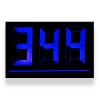 پلاک خانه ال ای دی سه رقمی